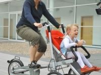 Taga bike pram to be a sustainable combo of a baby buggy and a tricycle