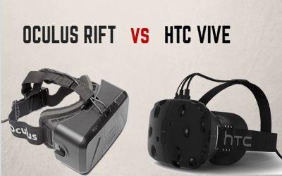 Oculus Rift VR helmet vs HTC Vive VR headset: clash of expectations