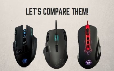 The review of gaming mice under 25$: Mpow Dragon Slayer, Roccat Tyon, Redragon M903